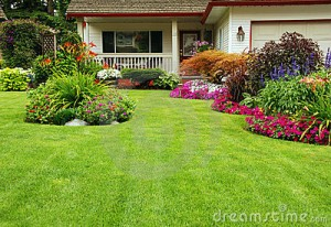 Landscaping makes for nice curb appeal