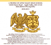 Apple Valley High School in Apple Valley Minnesota