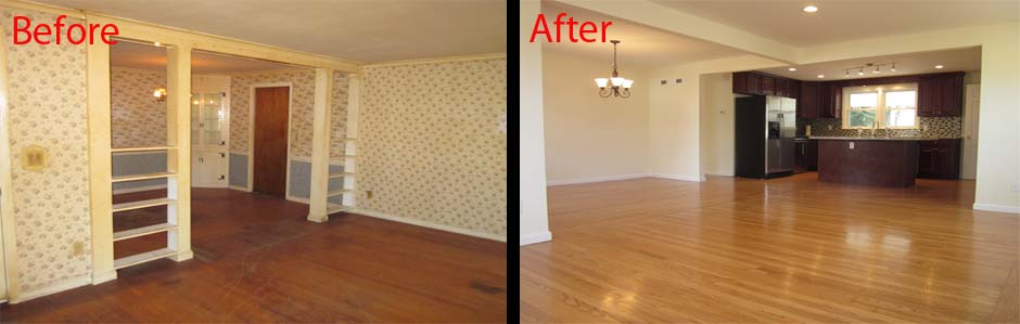 The pros and cons of open floor plans for Before and after flooring