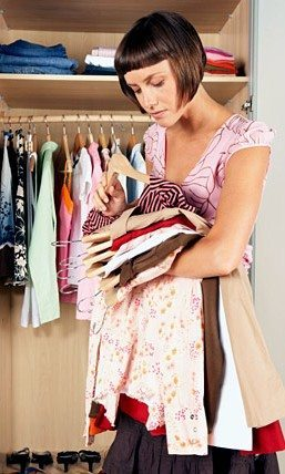 Closet Decluttering to sell