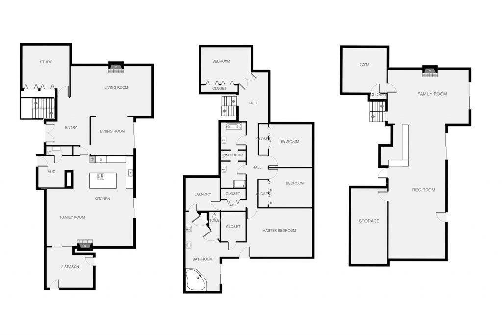 Updated Two Story Floorplan