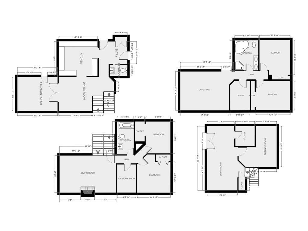 Four Level Floorplan