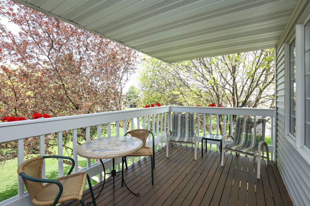 Private Deck and one level living