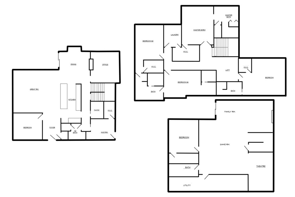 Acreage Home Floorplan